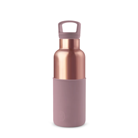 HYDY | CinCin Déco-Pink Gold & Dusty Rose 16 Oz Double Wall Stainless Bottle