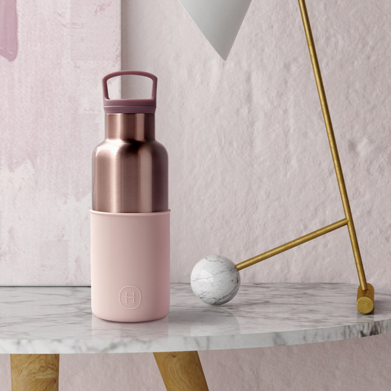 Pink Gold-Latte 16 Oz, HYDY - Water bottles, 18/8 (304) Stainless Steel, BPA Free, Reusable