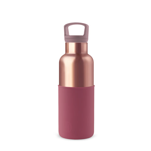 HYDY | CinCin Déco-Pink Gold & Wine Red 16 Oz Double Wall Stainless Bottle