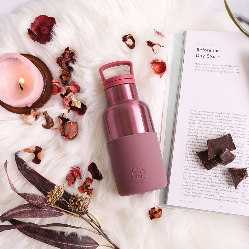 Rose Gold-Dusty Rose 12 Oz, HYDY - Water bottles, 18/8 (304) Stainless Steel, BPA Free, Reusable