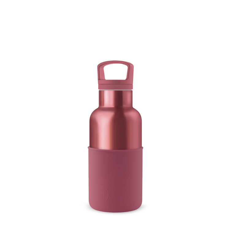 Rose Gold-WineRed 12 Oz, HYDY - Water bottles, 18/8 (304) Stainless Steel, BPA Free, Reusable