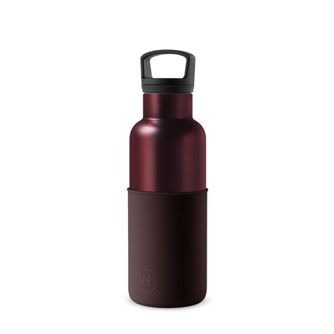 Burgundy-Black Cherry 16 Oz, HYDY - Water bottles, 18/8 (304) Stainless Steel, BPA Free, Reusable