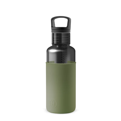 Charcoal-Seaweed Green 20 Oz, HYDY - Water bottles, 18/8 (304) Stainless Steel, BPA Free, Reusable