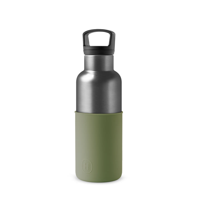 Set-Titanium Grey Bottle and Tumbler, HYDY - Water bottles, 18/8 (304) Stainless Steel, BPA Free, Reusable