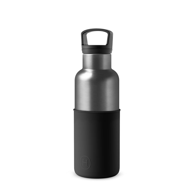 Titanium Grey Bottle and Tumbler Set, HYDY - Water bottles, 18/8 (304) Stainless Steel, BPA Free, Reusable