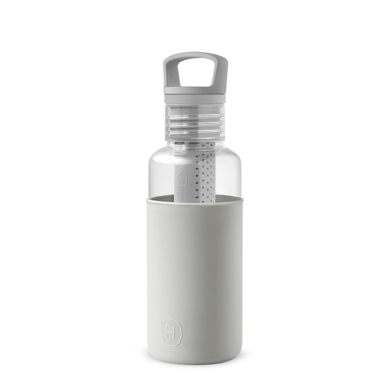 Clear-Cloudy Grey 20 Oz, HYDY - Water bottles, 18/8 (304) Stainless Steel, BPA Free, Reusable
