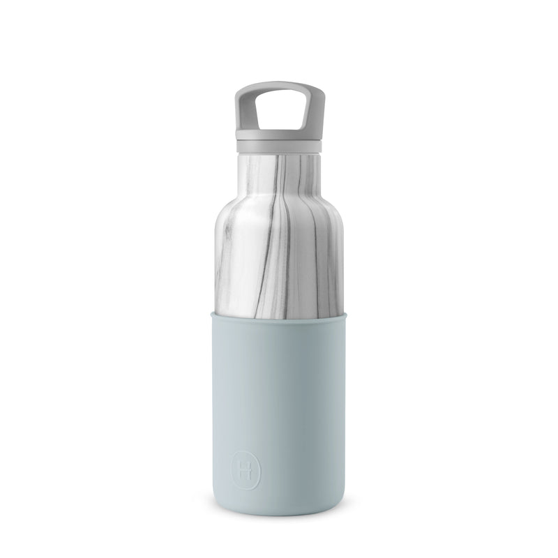 White Marble-Cumulus 16 Oz, HYDY - Water bottles, 18/8 (304) Stainless Steel, BPA Free, Reusable