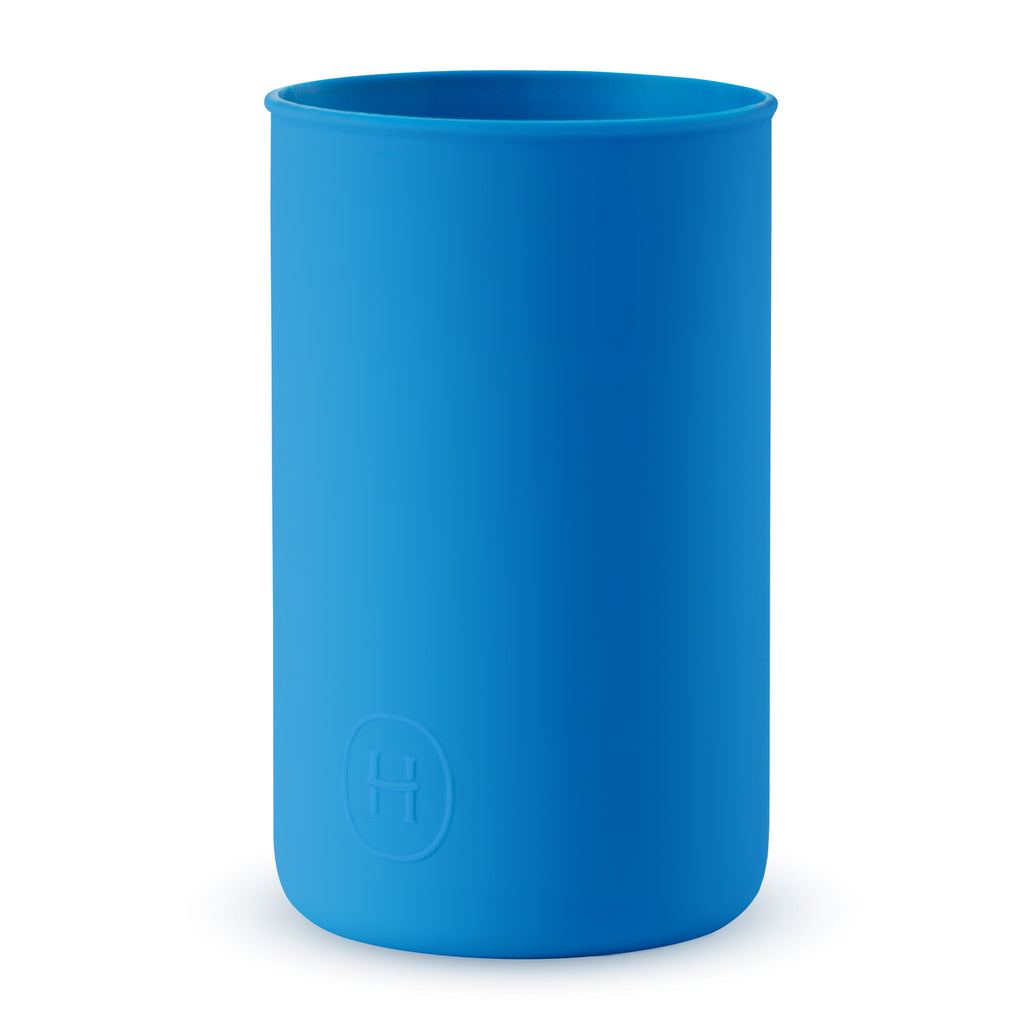 Silicone sleeve Blue HYDY Water Bottles, BPA Free, Dishwasher safe