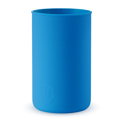 Silicone sleeve- BLUE, HYDY - Water bottles, 18/8 (304) Stainless Steel, BPA Free, Reusable