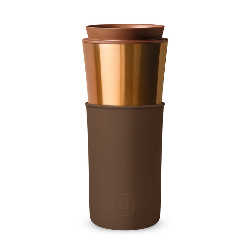 Bronze Gold Travel Mug - Mocha 15 Oz