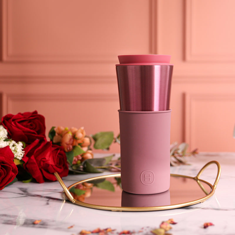 Rose Gold Travel Mug - Dusty Rose 15 Oz