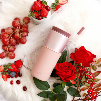 Pearl Pink Travel Mug - Latte 15 Oz