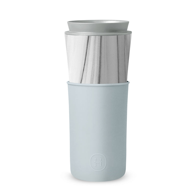 White Marble Travel Mug - Cumulus 15 Oz