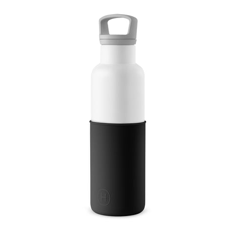 Cin Cin (White-Midnight Black) 20oz, HYDY - Water bottles, 18/8 (304) Stainless Steel, BPA Free, Reusable