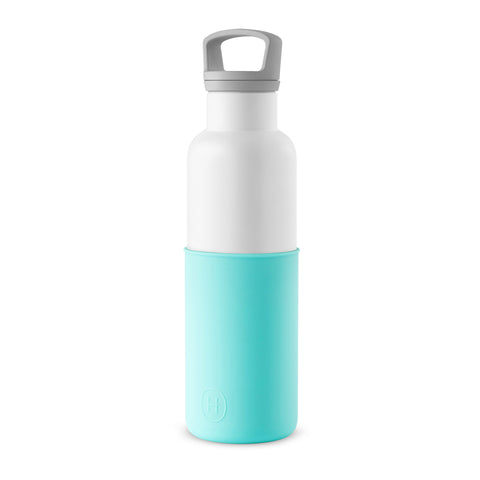 Cin Cin (White-Arctic blue) 20 oz, HYDY - Water bottles, 18/8 (304) Stainless Steel, BPA Free, Reusable