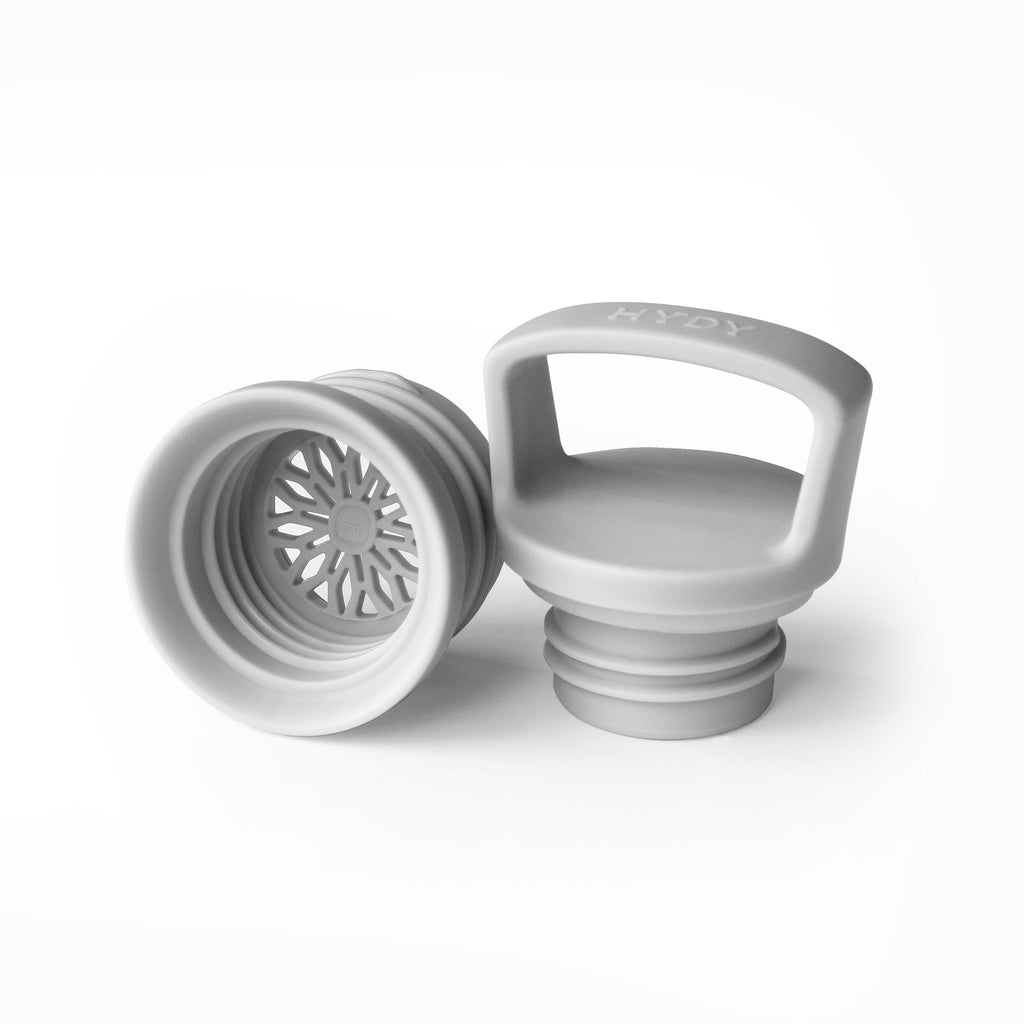 Bottle Cap- Grey, HYDY - Water bottles, 18/8 (304) Stainless Steel, BPA Free, Reusable