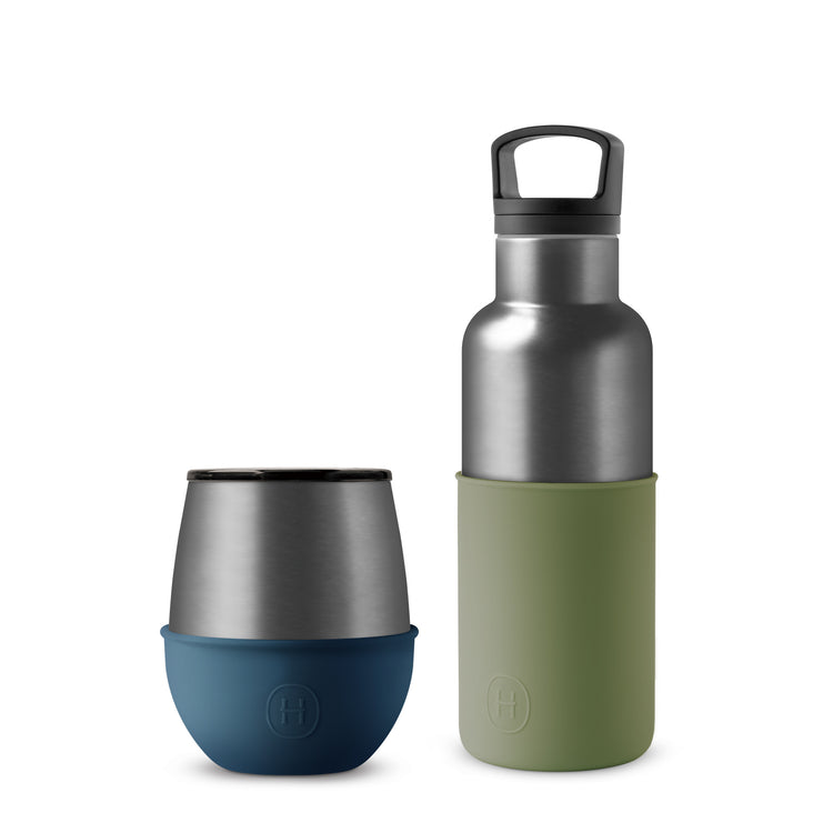 Set-Titanium Grey Bottle and Tumbler