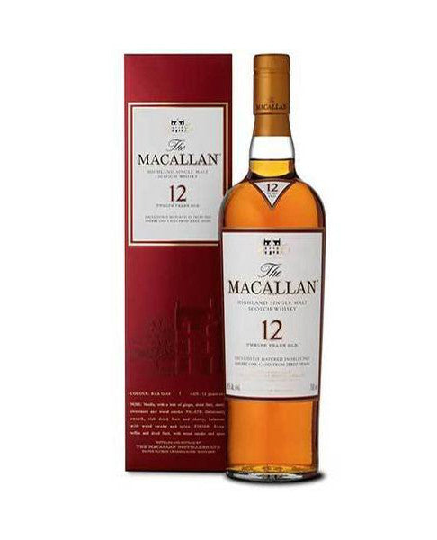Macallan 12yr Single Malt Highland Scotch Whisky 750ml