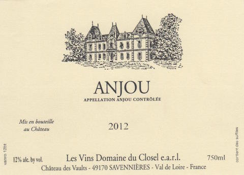 Closel, Anjou, Une Emotion, Loire 2012 750ml