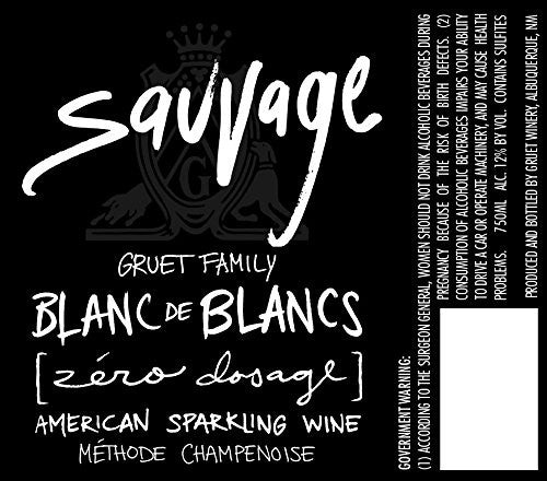 Gruet Sauvage Blanc de Blancs 750mL