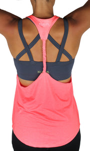 BRAIDED TANK TOP- GUAVA