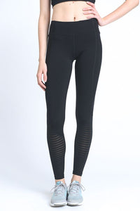 BURNOUT MESH CONTRAST LEGGING