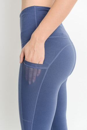 BLUE MESH POCKET LEGGING