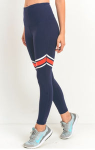 NAVY STRIPE LEGGING