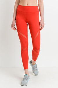 LASER RED MESH LEGGING