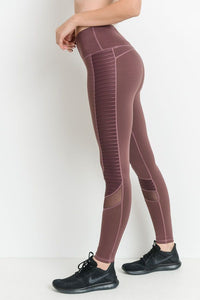 ORCHID MESH PANEL LEGGING