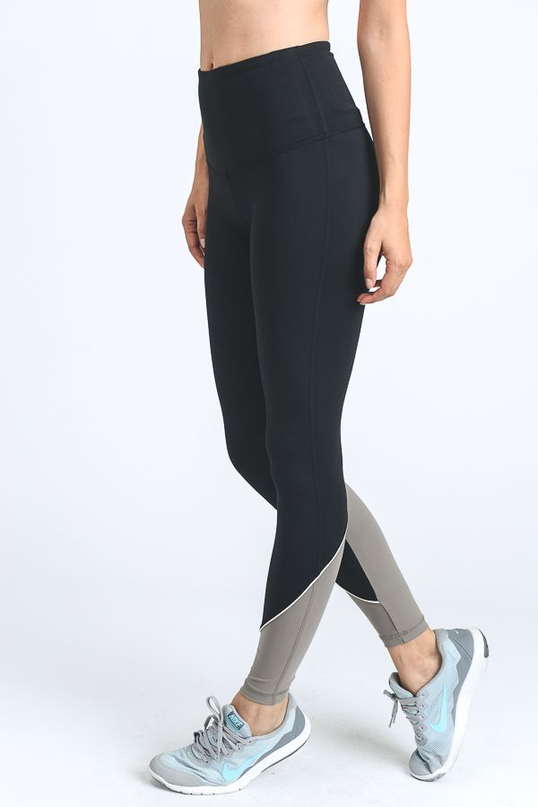 TAUPE COLOR BLOCK LEGGING