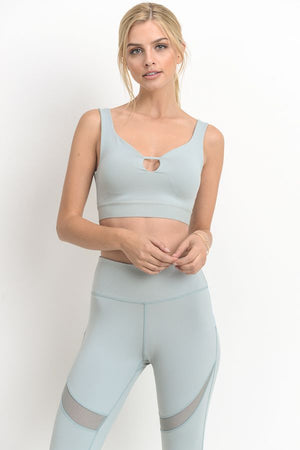 MINT CROP BRA
