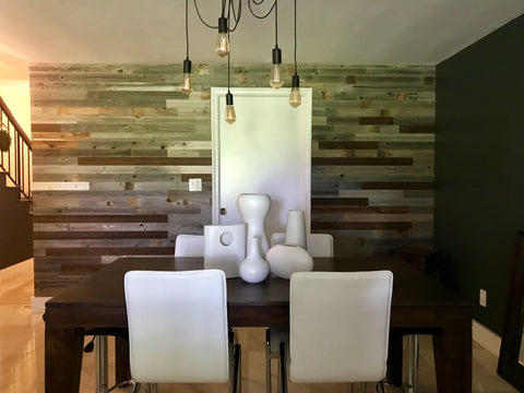 design idea dining room accent wall \u2013 plank and millplank \u0026 mill reclaimed barn wood dining room accent wall