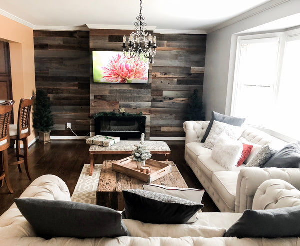 shiplap reclaimed barn wood barnwood diy pallet wall