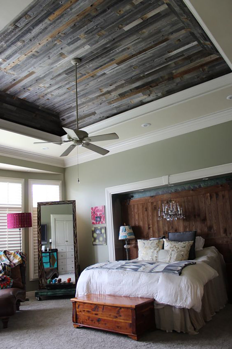 Plank and Mill Projects Bedroom Roundup Ceiling Reclaimed Barnwood