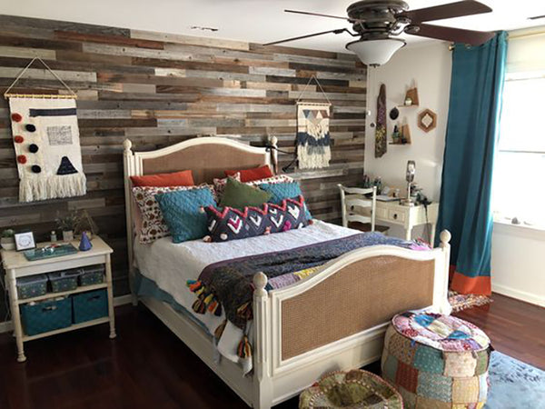 Plank and Mill Boho Bedrooms Peel Stick Reclaimed Wood