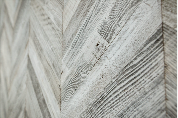 white wash reclaimed barn wood planks chevron peel and stick