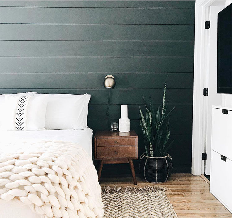 Dark Shiplap Bedroom