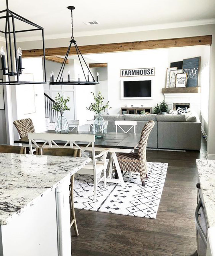 Plank and Mill peel and stick reclaimed wood add style space