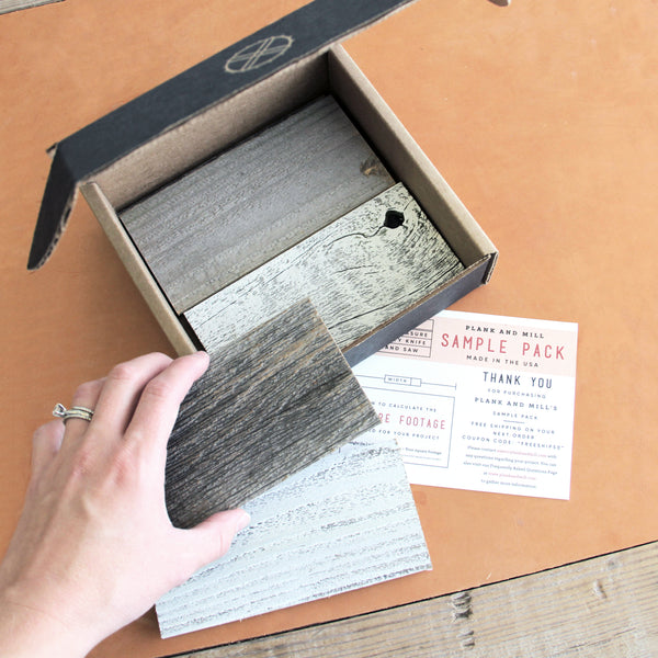 barnwood shiplap ship lap sample kit barn wood peel and stick