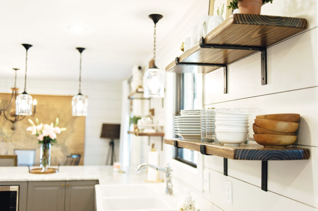 Farmhouse White Shiplap Kitchen