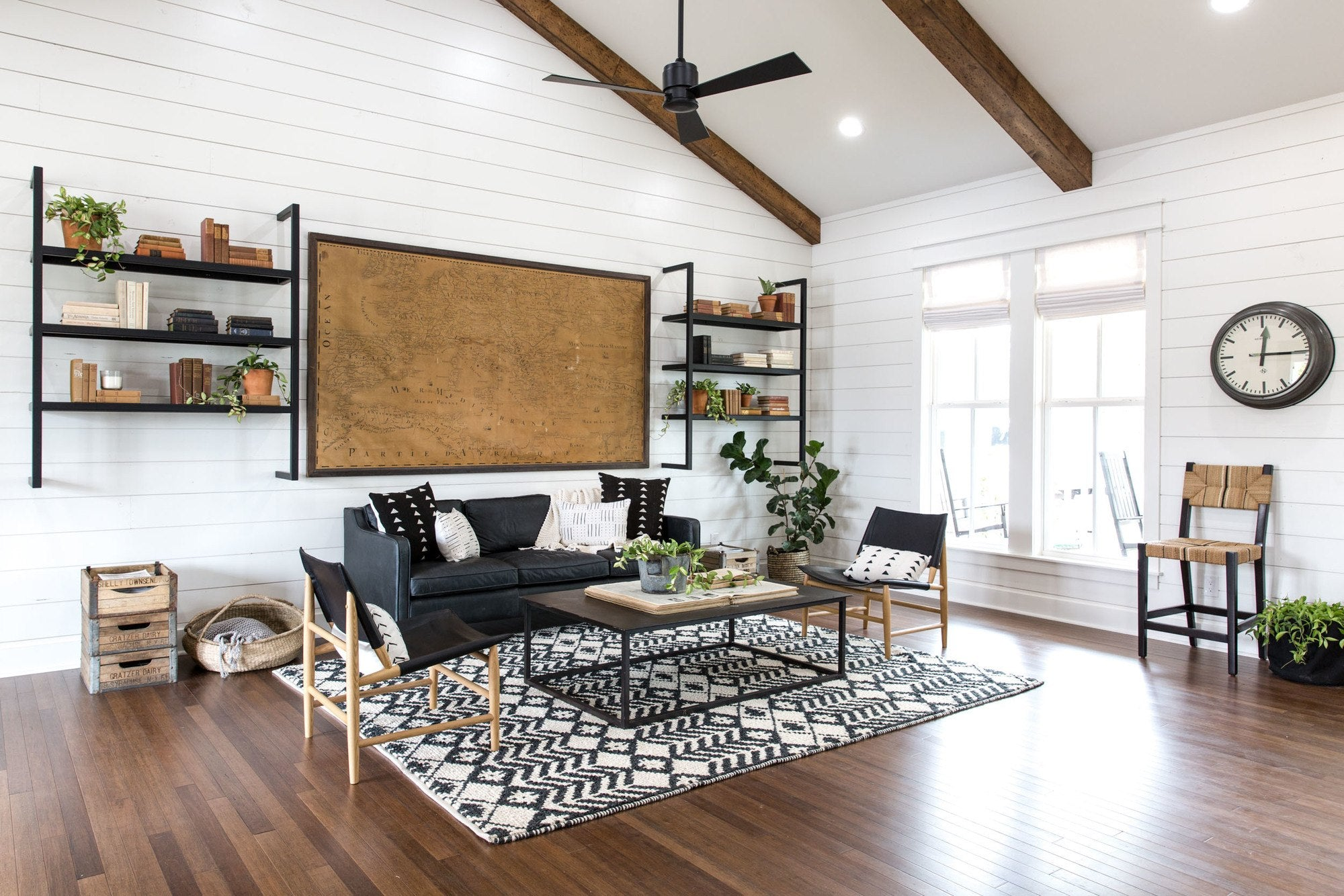 White Shiplap Living Room
