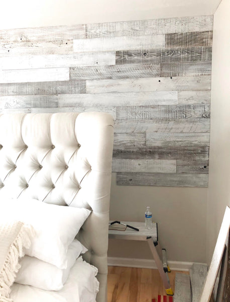 plank and mill whitewash shiplap reclaimed wood wall peel and stick barnwood