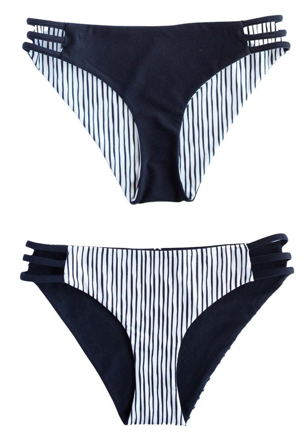 ONYX - Tri Band BOTTOMS Reversible Black-White Tri Band Bottoms Chance Loves XS