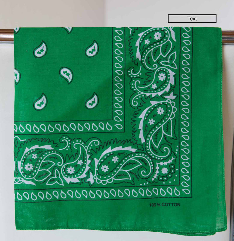 Bandana Accessory Bandanas Chance Loves EMERALD Green