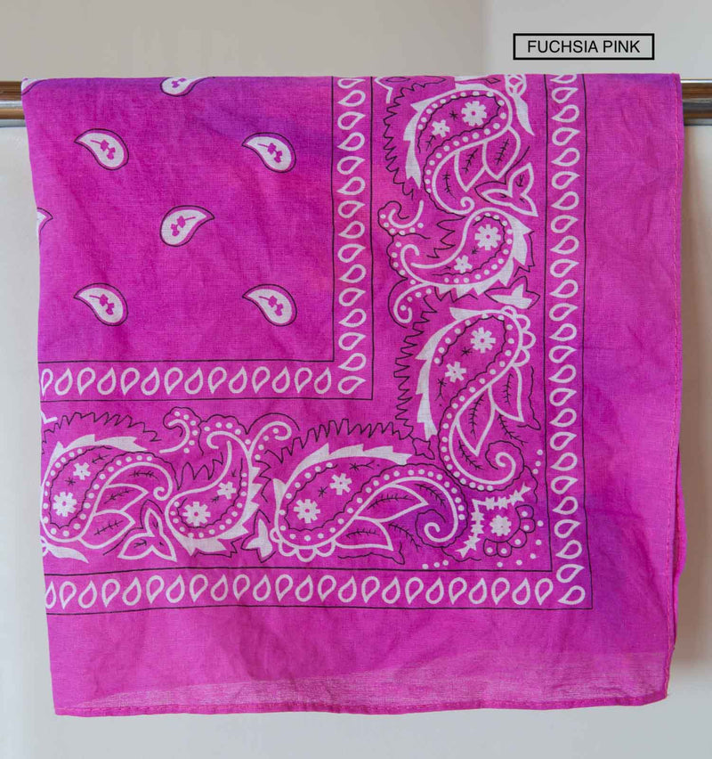 Bandana Accessory Bandanas Chance Loves FUCHSIA Pink
