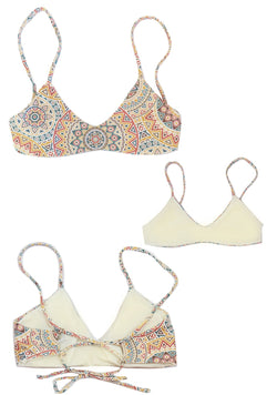Two sided Reversible Bralette Swim Top, High Quality and beautiful Earthtone Colors.