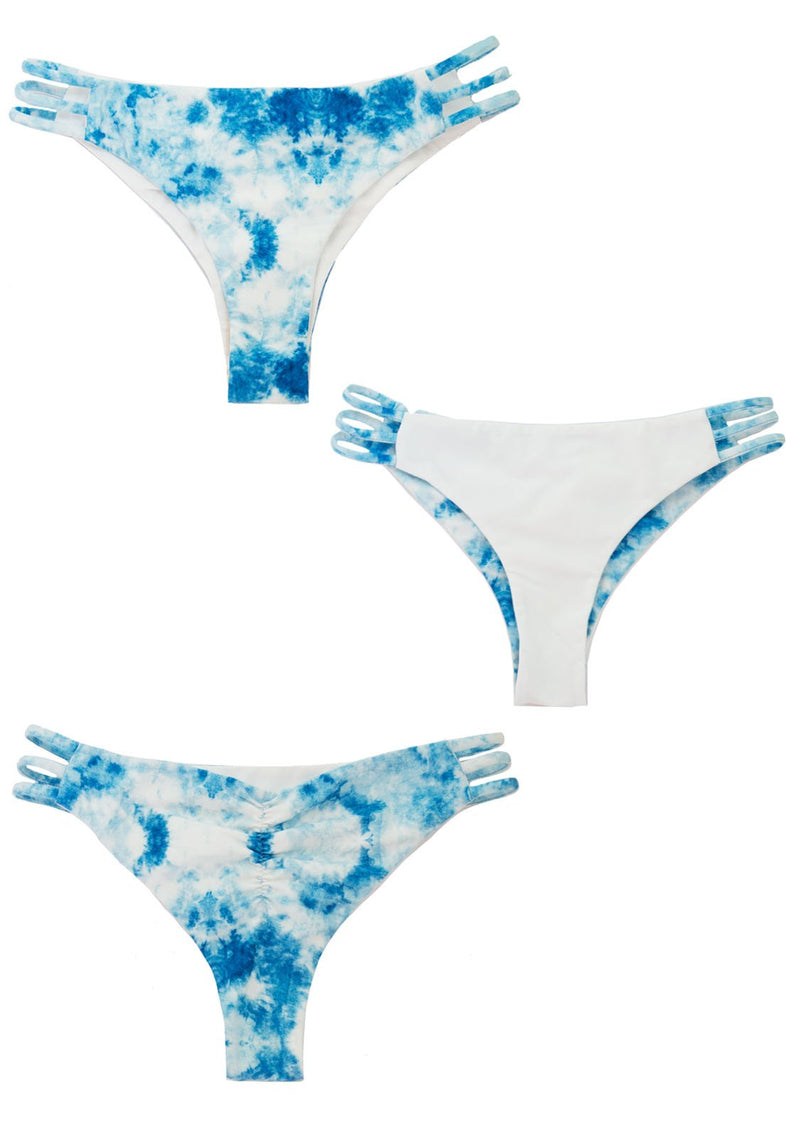 CLOUD 9 Tye Dye Reversible Tri-Band CHEEKY BOTTOMS Cheeky Bottoms Chance Loves XS Blue/White