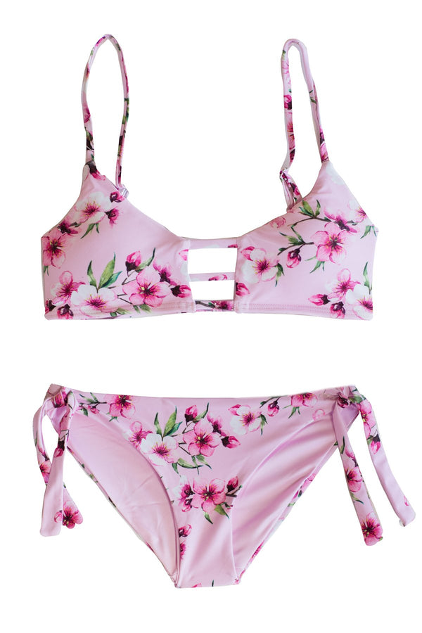 Two Piece Swimsuit set for Tween Girls and Teens. Beautiful Floral Print Bikini