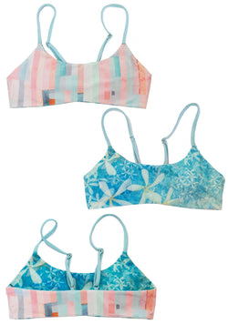 "Two sides to this beautiful Bikini Top, made by Tween and Teen Brand ""Chance Loves Swimwear""."